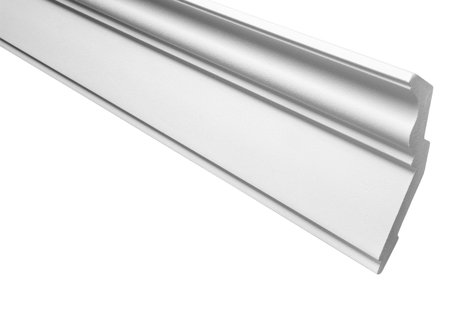 E-18 stabil Styropor Flachleiste 18x38mm 50 Meter dekorativ Stuckprofil XPS Decke wei/ß Zierleiste leicht