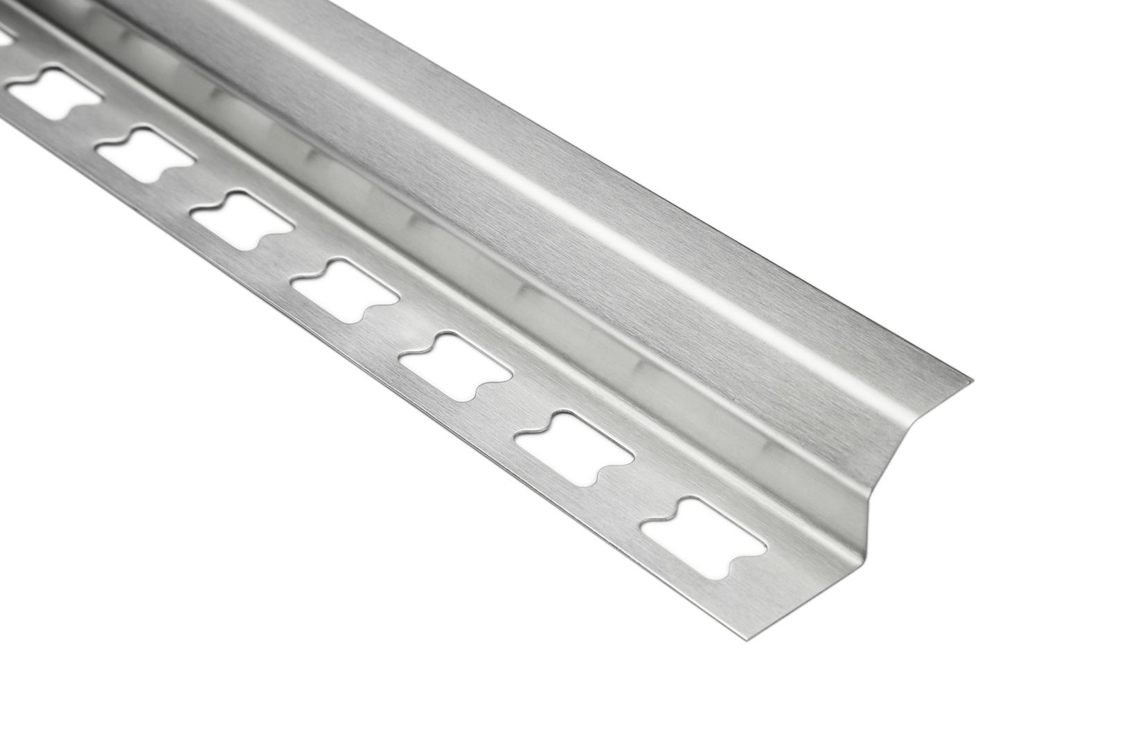 Hohlkehlenprofil gerade 10mm | Edelstahlschienen - silber gebürstet | EIG Sparpaket