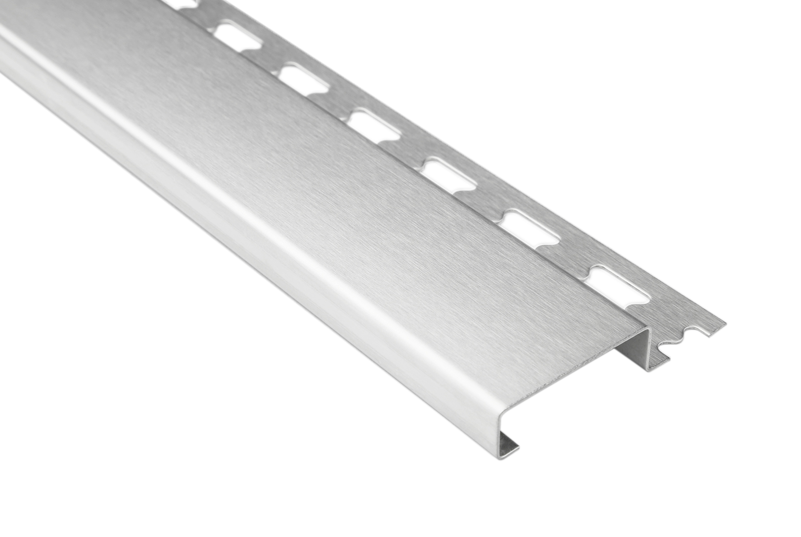 Sockelprofil 10mm | Edelstahlschienen - silber gebürstet | ES Sparpaket