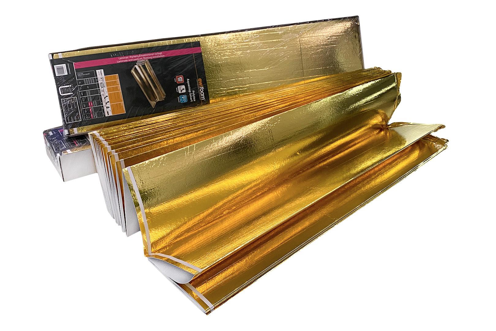 Restposten! Trittschalldämmung in Gold Parkett- & Laminatunterlage 1,6 mm Fußbodenheizung