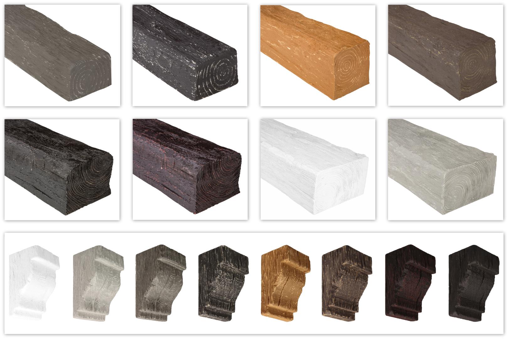 Balken und Konsolen Modern für Decke & Wand - Holzimitat Verkleidung Cosca