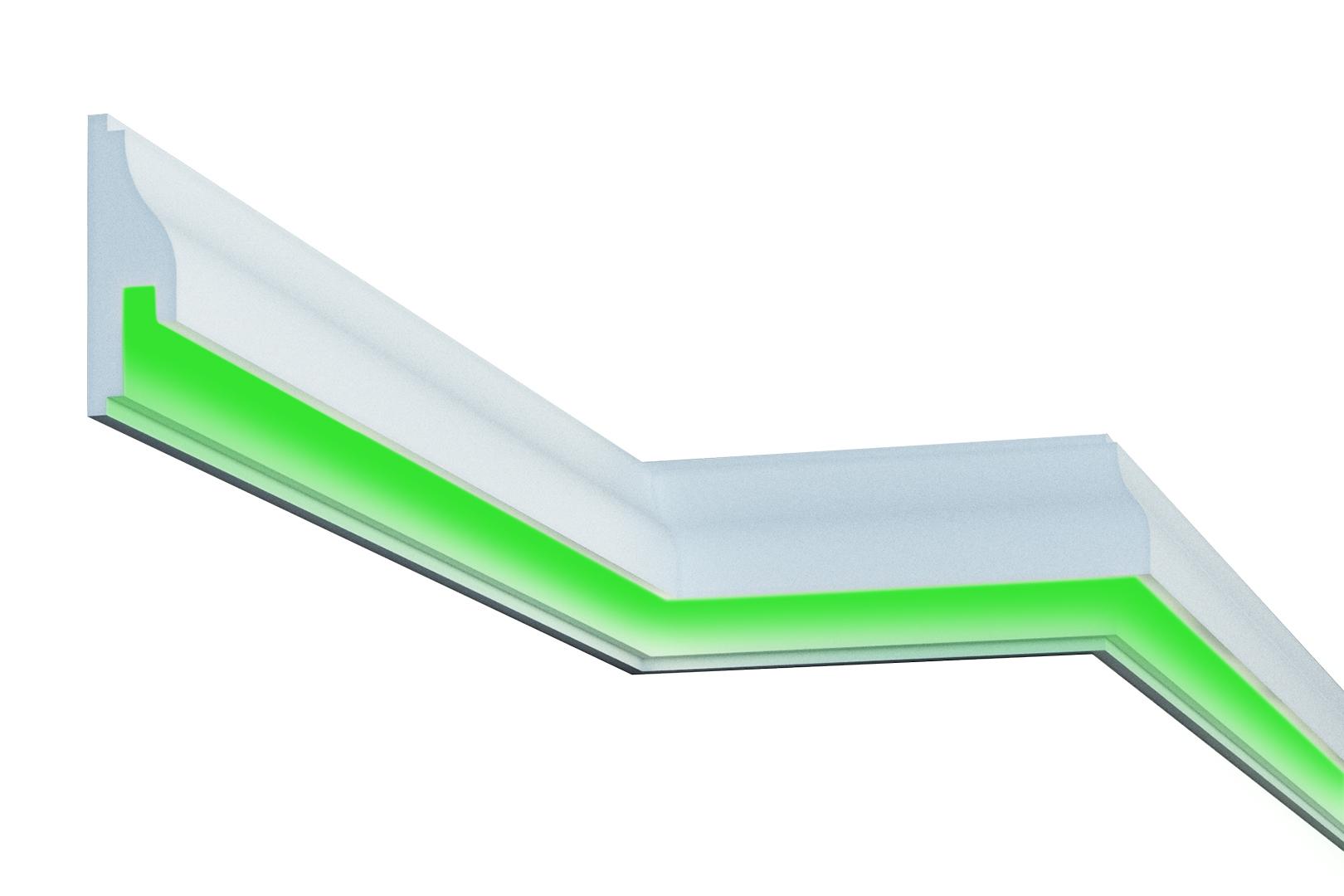 Fassade | LED Stuck | EPS | PU | wetterfest | 55x170mm | MC306