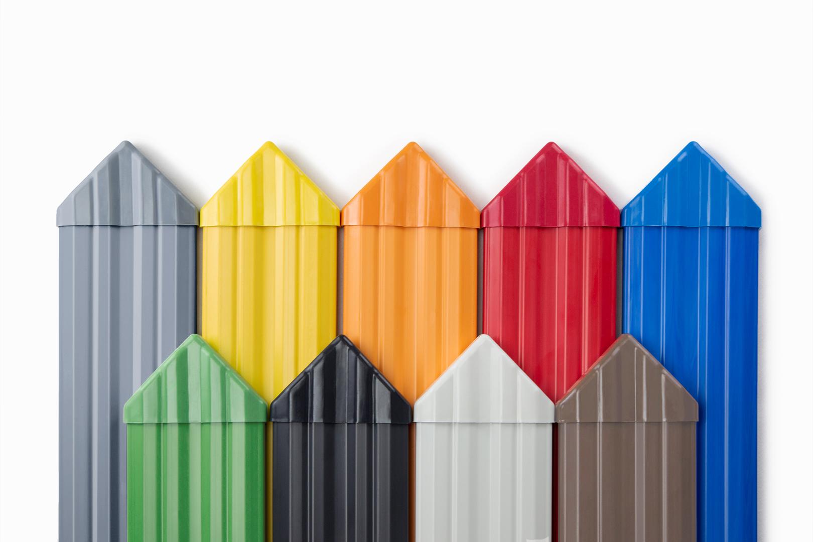 Zaunkappen spitz - PVC - Gartenzaun, Balkonbrett, viele Farben PZKS