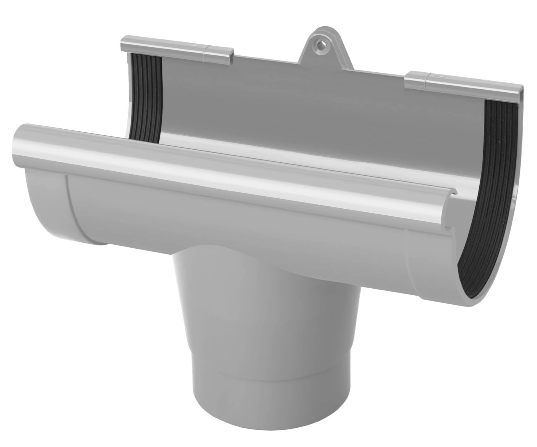 PVC RainWay Regenrinnensystem Regenwasser Regenrinne RINNENSTUTZE Durchmesser:130 mm Farbe:Braun