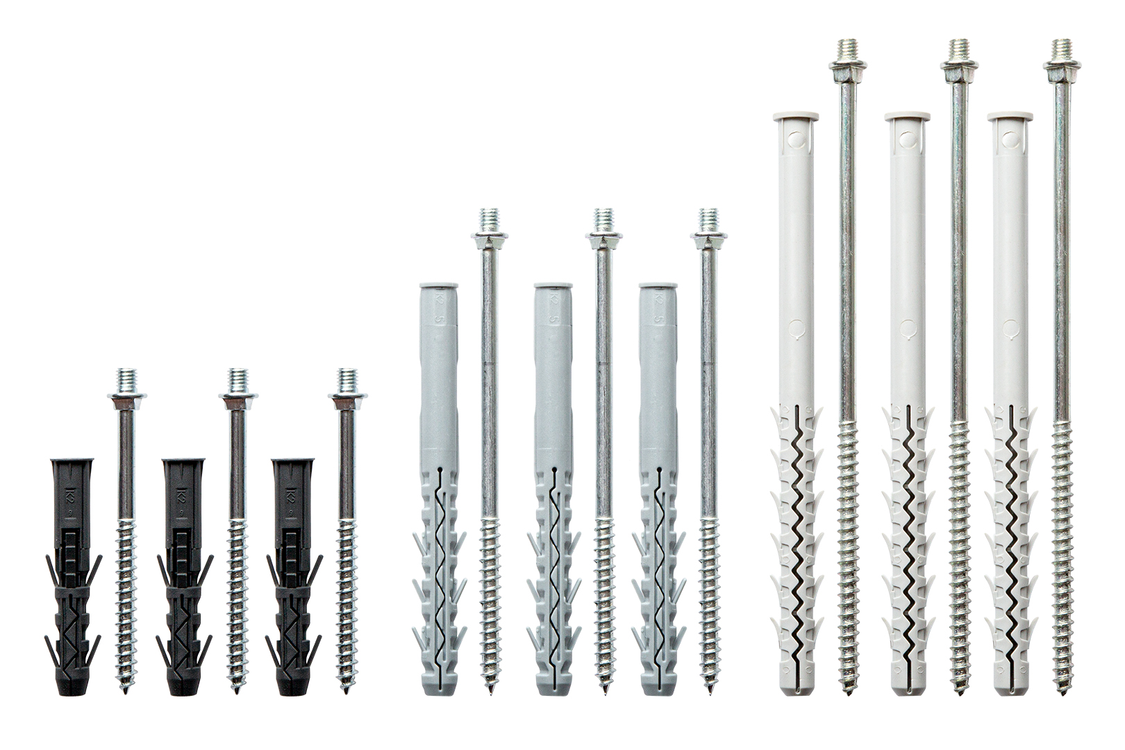 Stockschrauben - inkl. Dübel, perfekt für RainWay Rohrschellen - 10 Stück