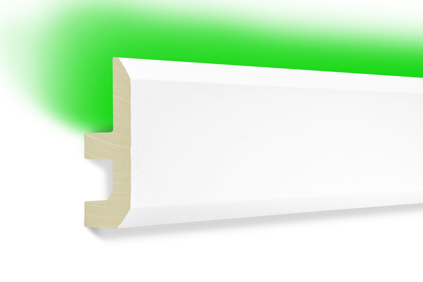 Led Profile Indirekte Beleuchtung Pu Stossfest Leiste 80x40mm Led 13 Hexim Webshop Innen Und Fassadendekoration