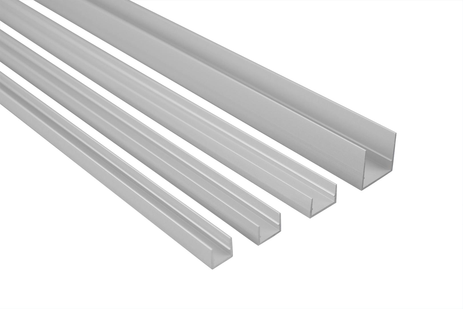 2 Meter | U-Profil | Alu | eloxiert | Belastbar | Effector | B60-B63