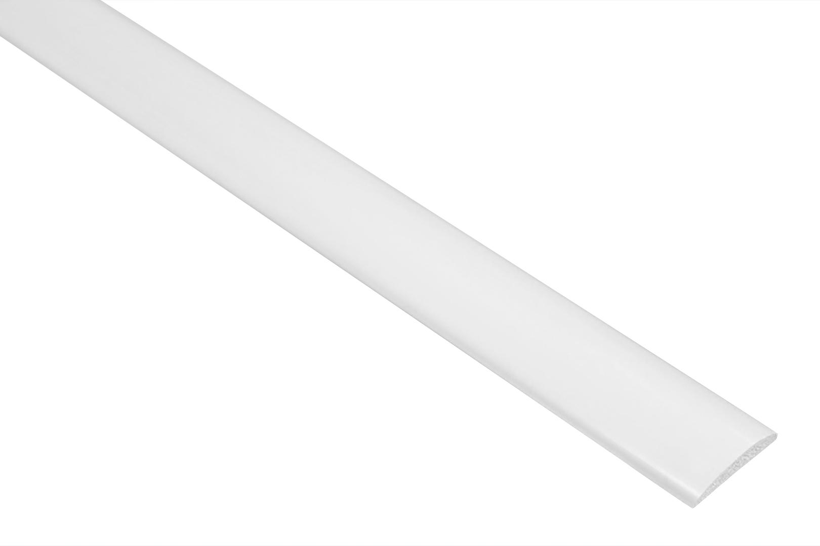 2 Meter | Flachleiste | PVC | stoßfest| Effector | 5x19mm | F06
