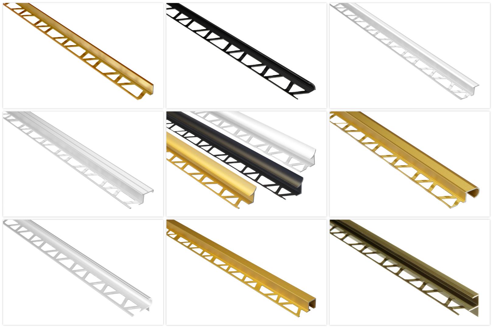 Fliesenschienen aus Aluminium, langlebig & rostfrei als Kantenschutz, Abschluss & Dekoration