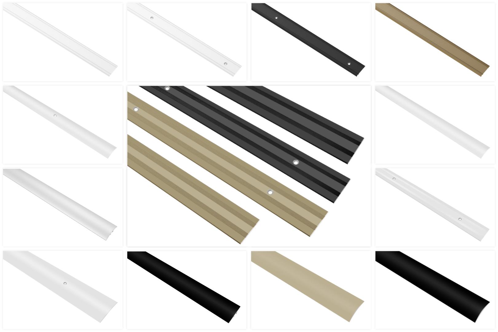 Übergangsprofile aus Aluminium, langlebig & rostfrei als Übergangsleiste von Bodenfugen & Dekoration