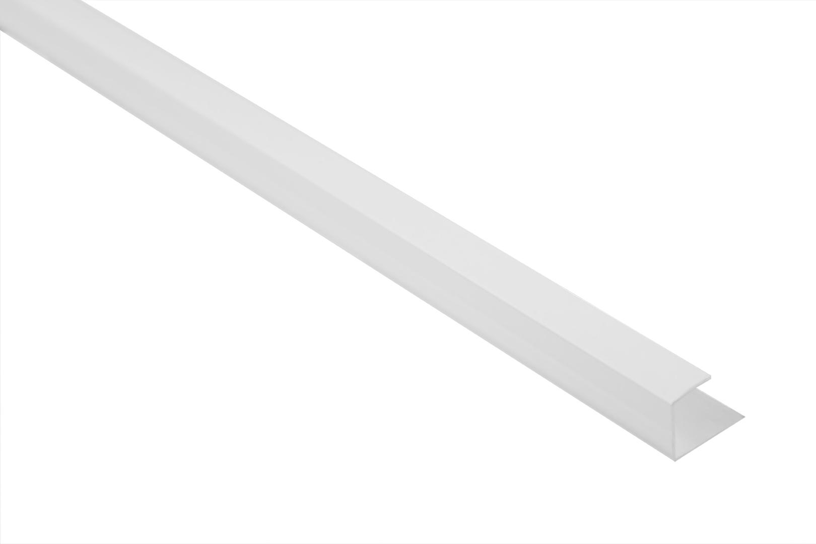 2 Meter | U-Profil | Aufnahme | ungleichschenklig | PVC | 12,5mm | Lemal | PT5