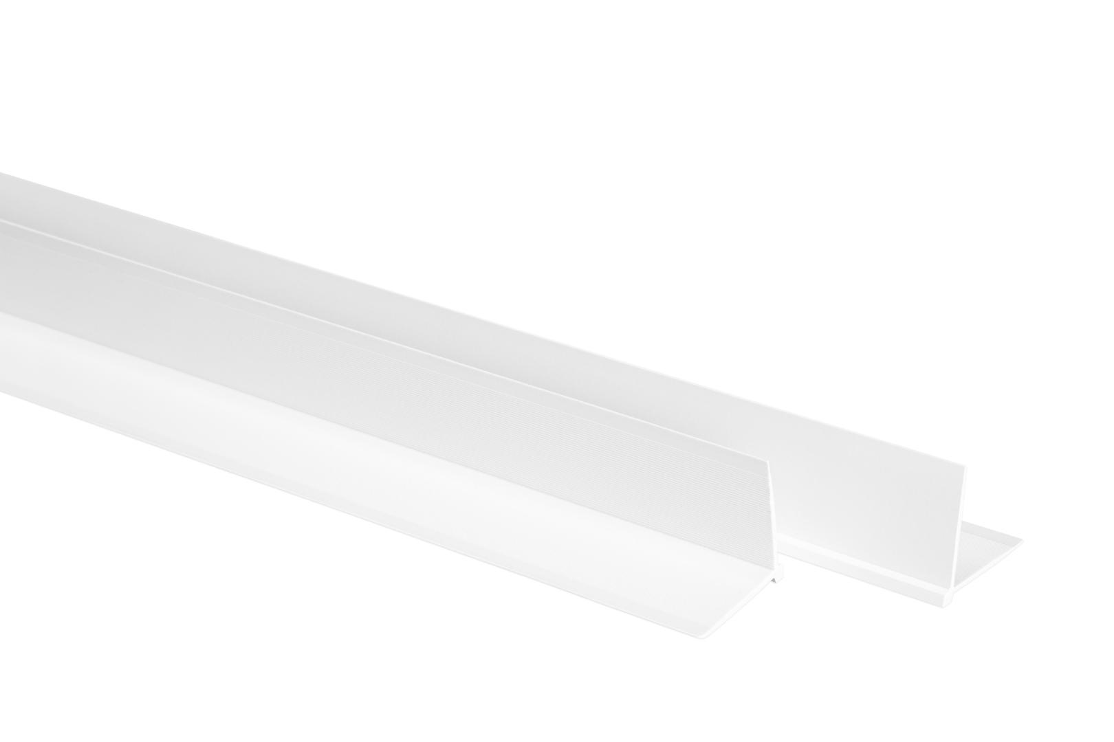 LEMAL Tapeteneckleisten 2 Meter - Maler Eckenwinkel Kantenschutzprofil weiß 23x23mm TE0101