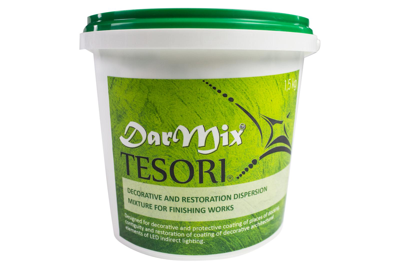 1,5 kg   Spachtelmasse   Stuckprofile   gebrauchsfertig   Tesori   DarMix fein