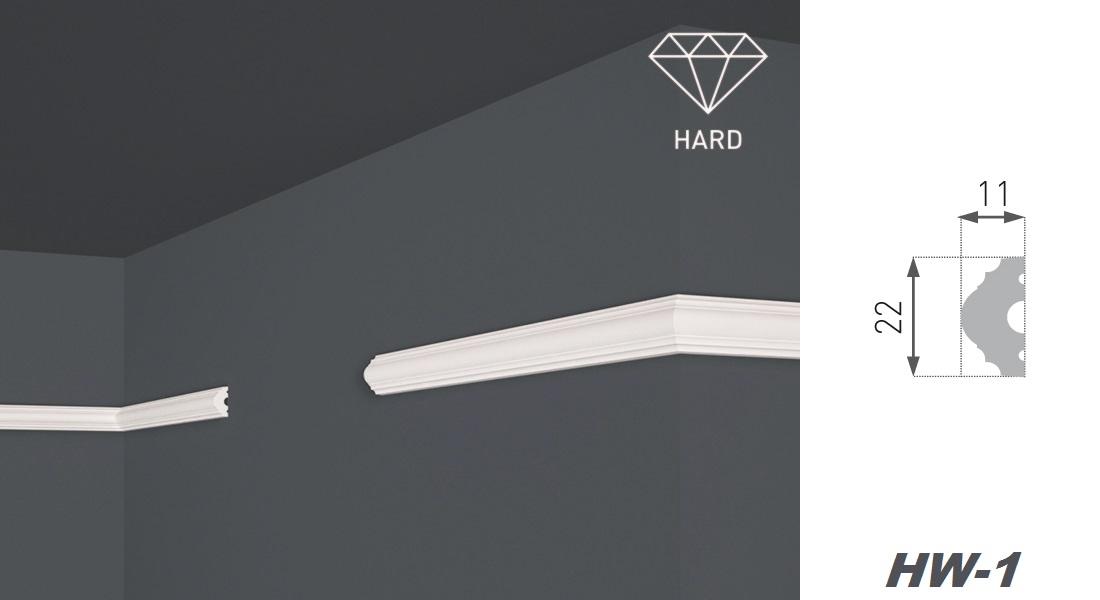 10 Meter Flachleisten Flachprofile Wandleisten Profile stoßfest 11x22mm HW-1