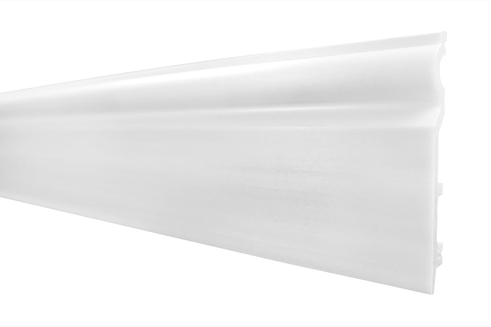 Sockelleisten | Stuck | Fußleiste | Frankfurter | stoßfest | 120x15mm | HF-2