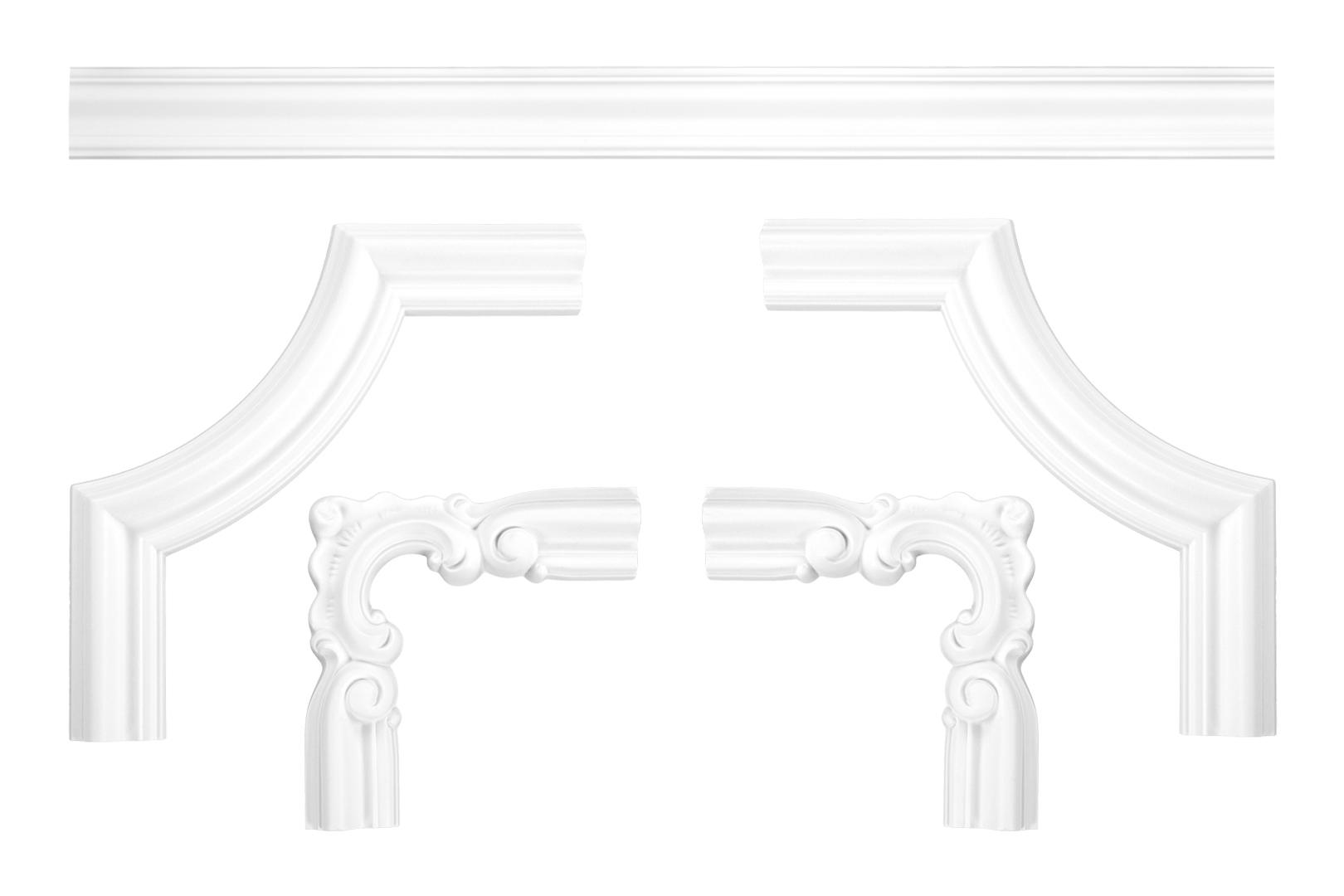 Wand- und Deckenumrandung | Fries | Stuck | PU | stoßfest | CR824/A/B