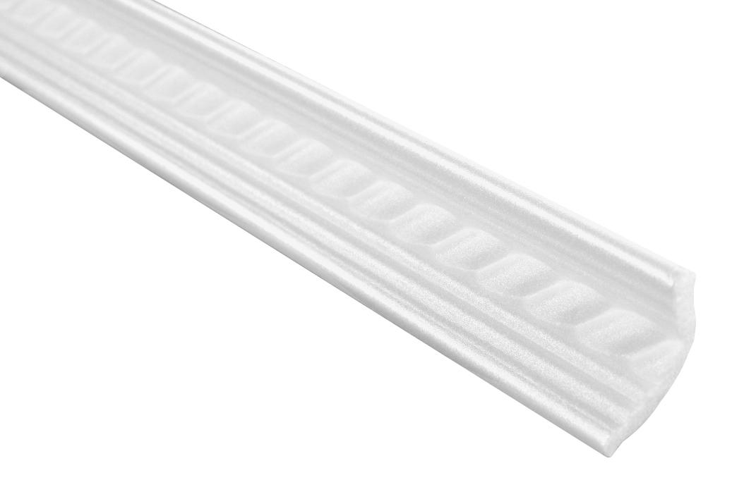 2 Meter   Eckprofil Polystyrolleiste Deckenleiste   Hexim   25x35mm   M-05