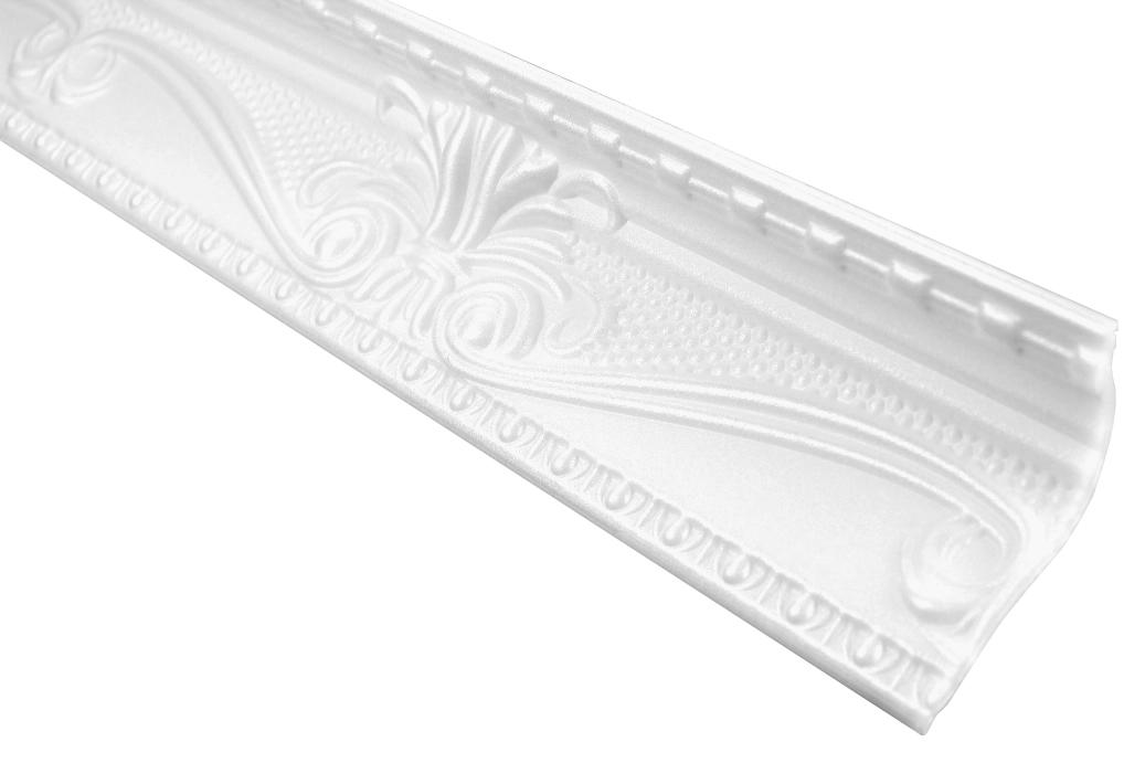Eckprofil Polystyrolleiste Deckenleiste Dekor Stuck | Hexim | 47x88mm | M-23