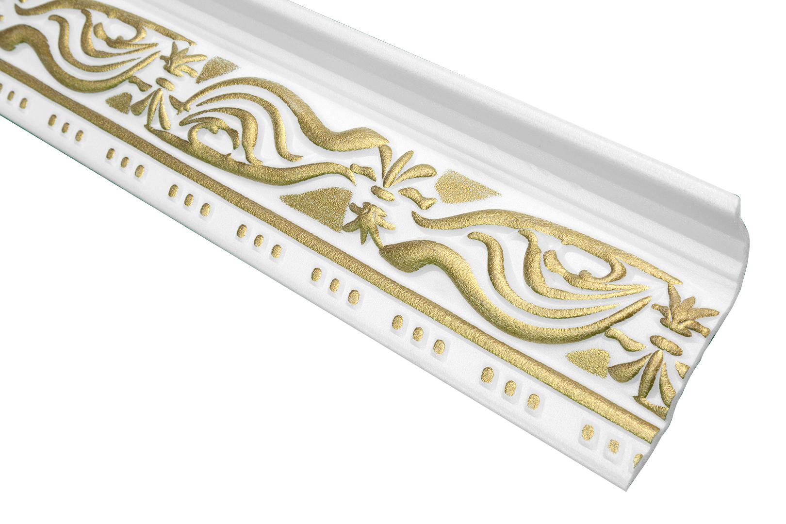 2 Meter   Zierleiste Zierprofil Deckenleiste   46x89mm   M-24 GOLD