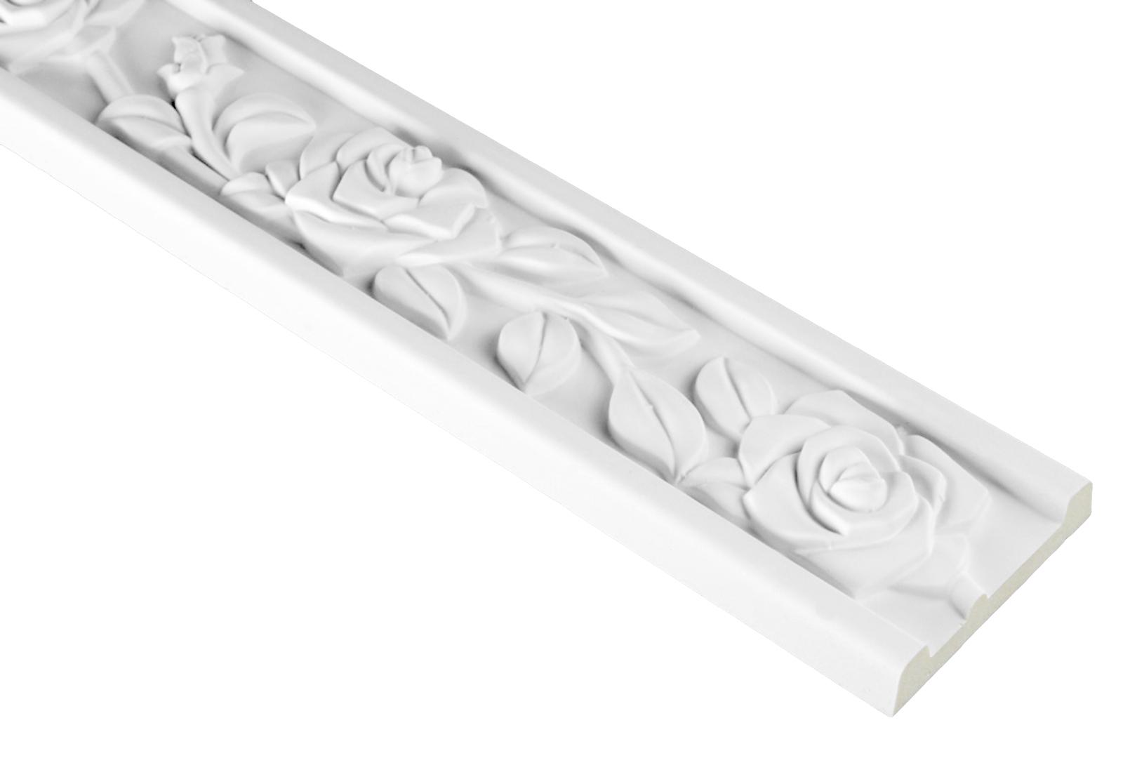2 Meter PU Flachprofil Leiste Wand Dekor Stuck sto/ßfest 103x18mm FH9125