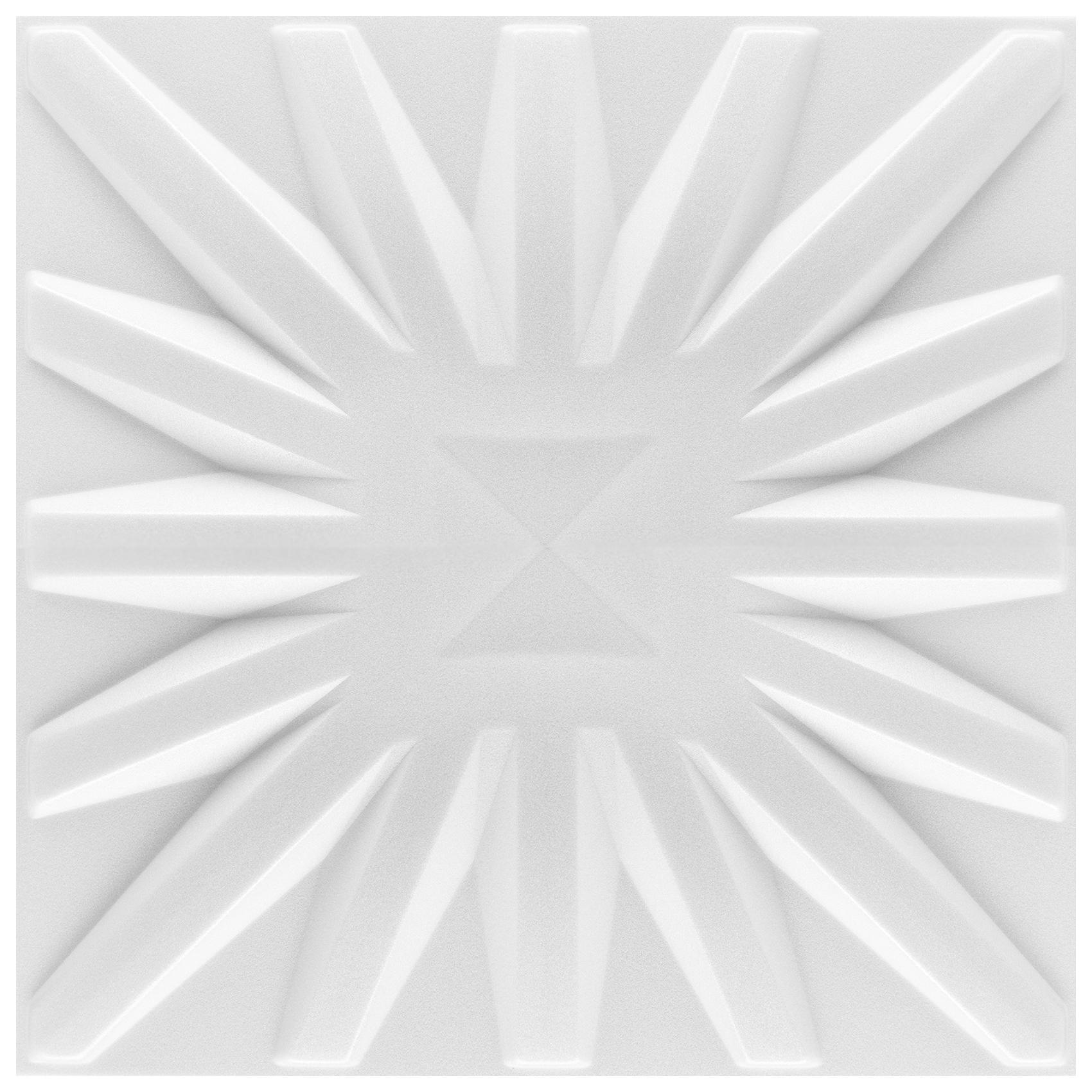 3D Paneele 50x50cm weiß - XPS Styropor, leicht & wärmedämmend, Decken- / Wandpaneele viele Designs