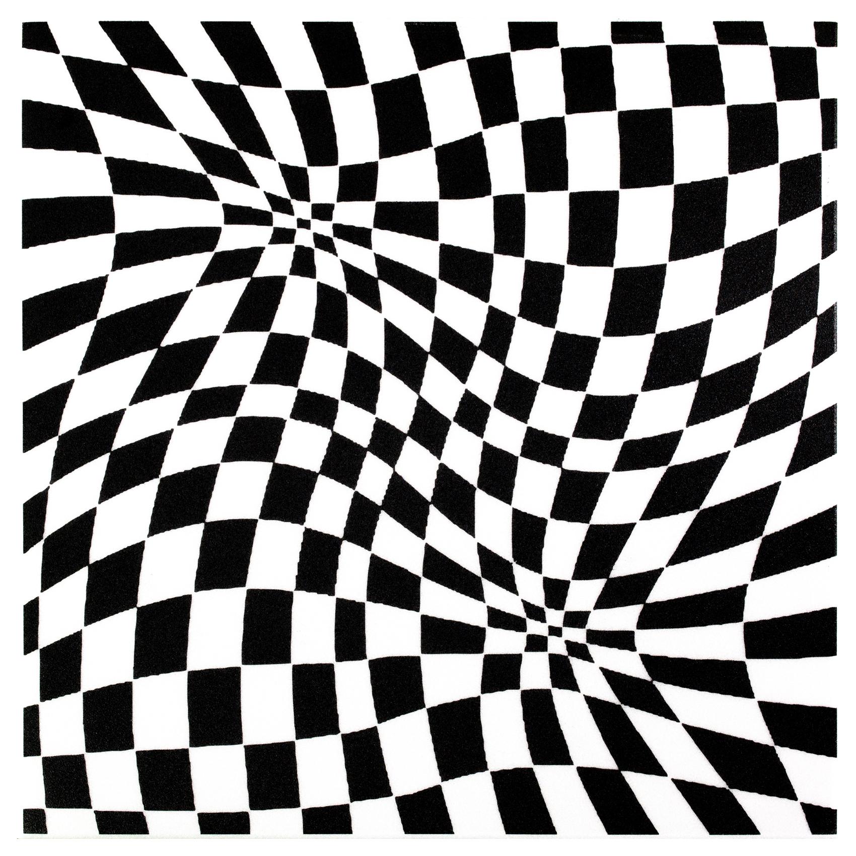 Deckenplatten | Panorama Effekt | XPS | 50x50cm | Hexim | Black