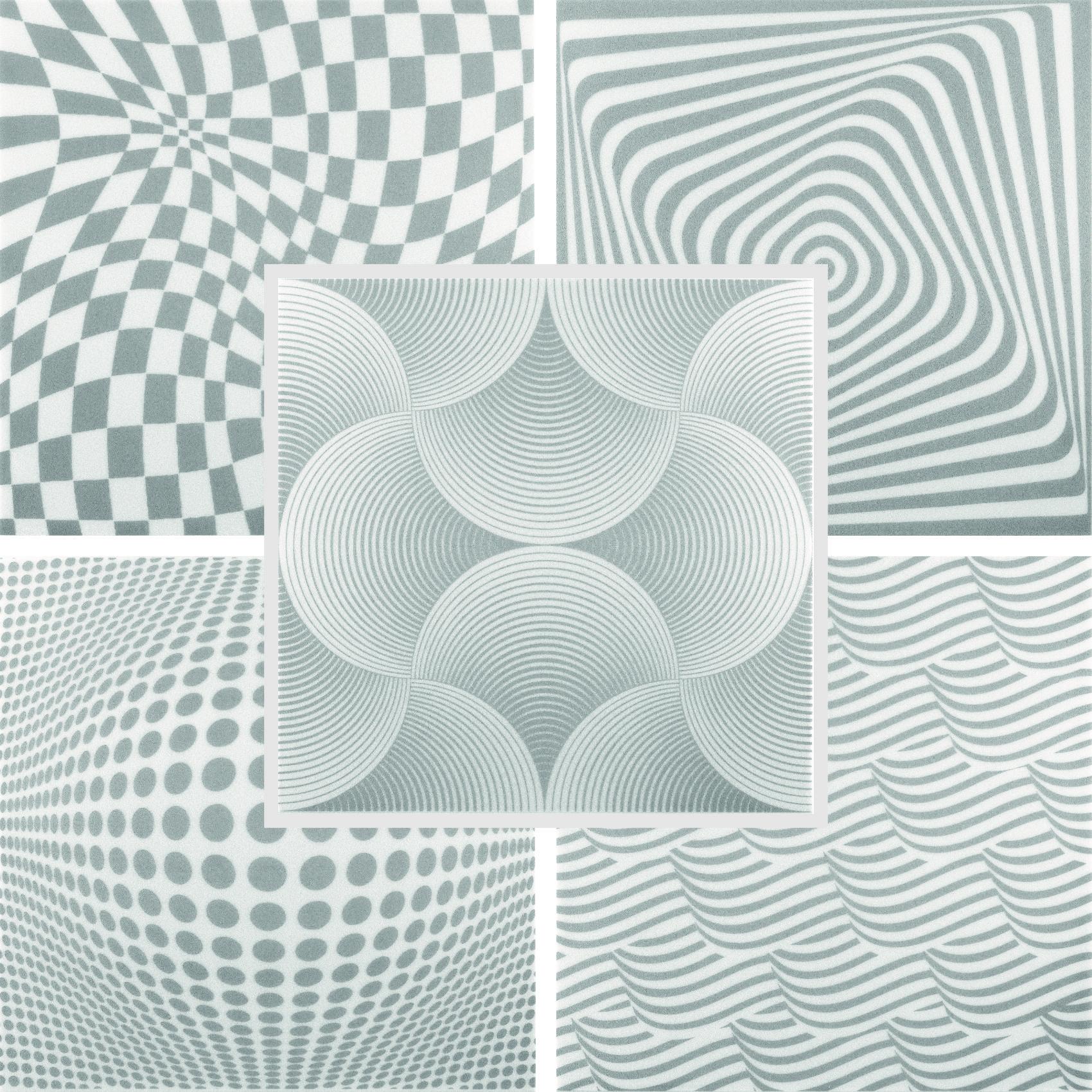 Deckenplatten | Panorama Effekt | XPS | 50x50cm |Hexim | Grey