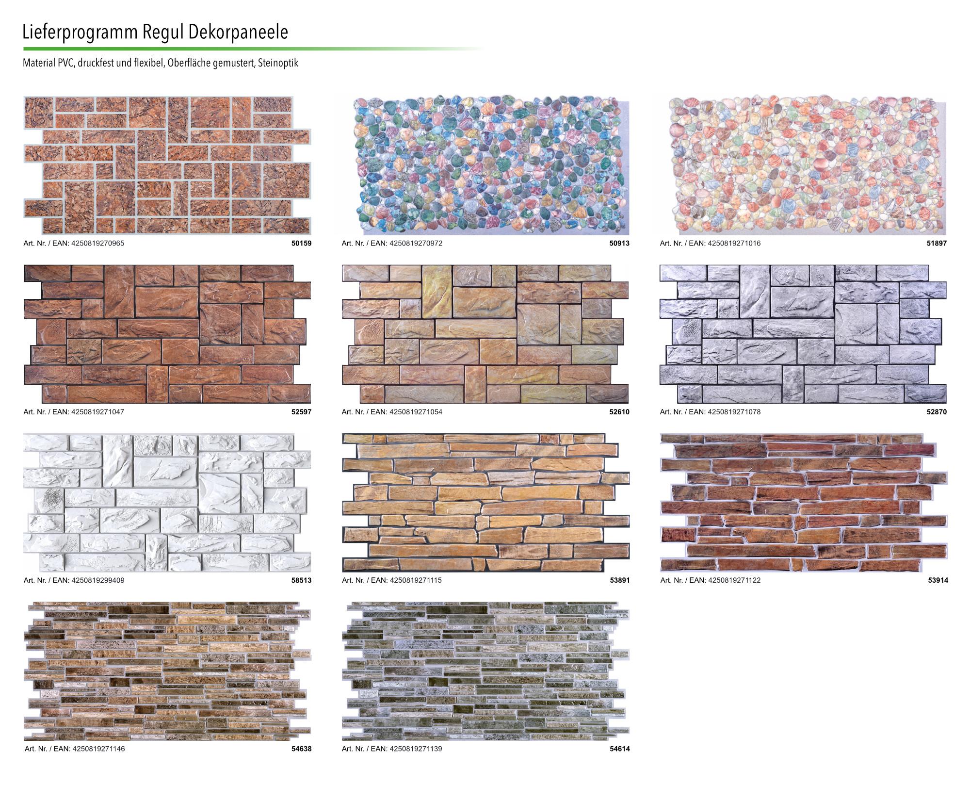 Hervorragend Dekor Paneele | Stein | Auswahl | Wand | Platte | PVC | stabil JX54