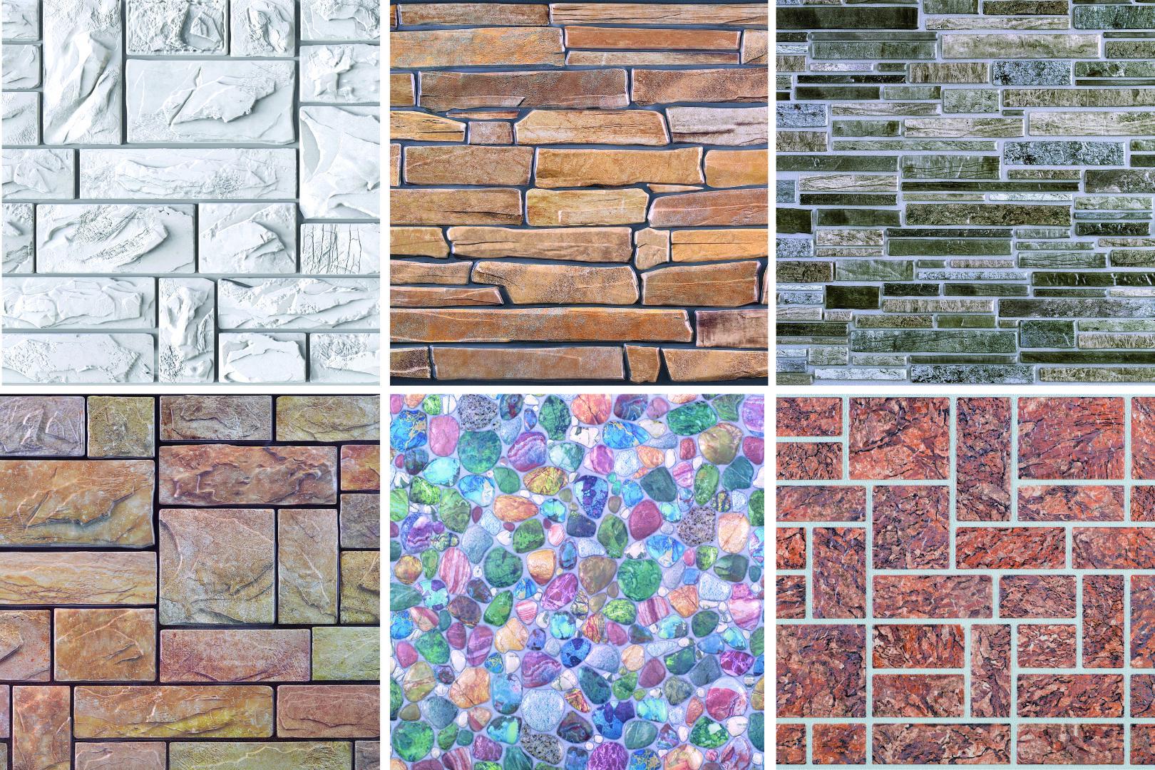 Dekor Paneele   Stein   Auswahl   Wand   Platte   PVC   stabil   95x50cm   Regul