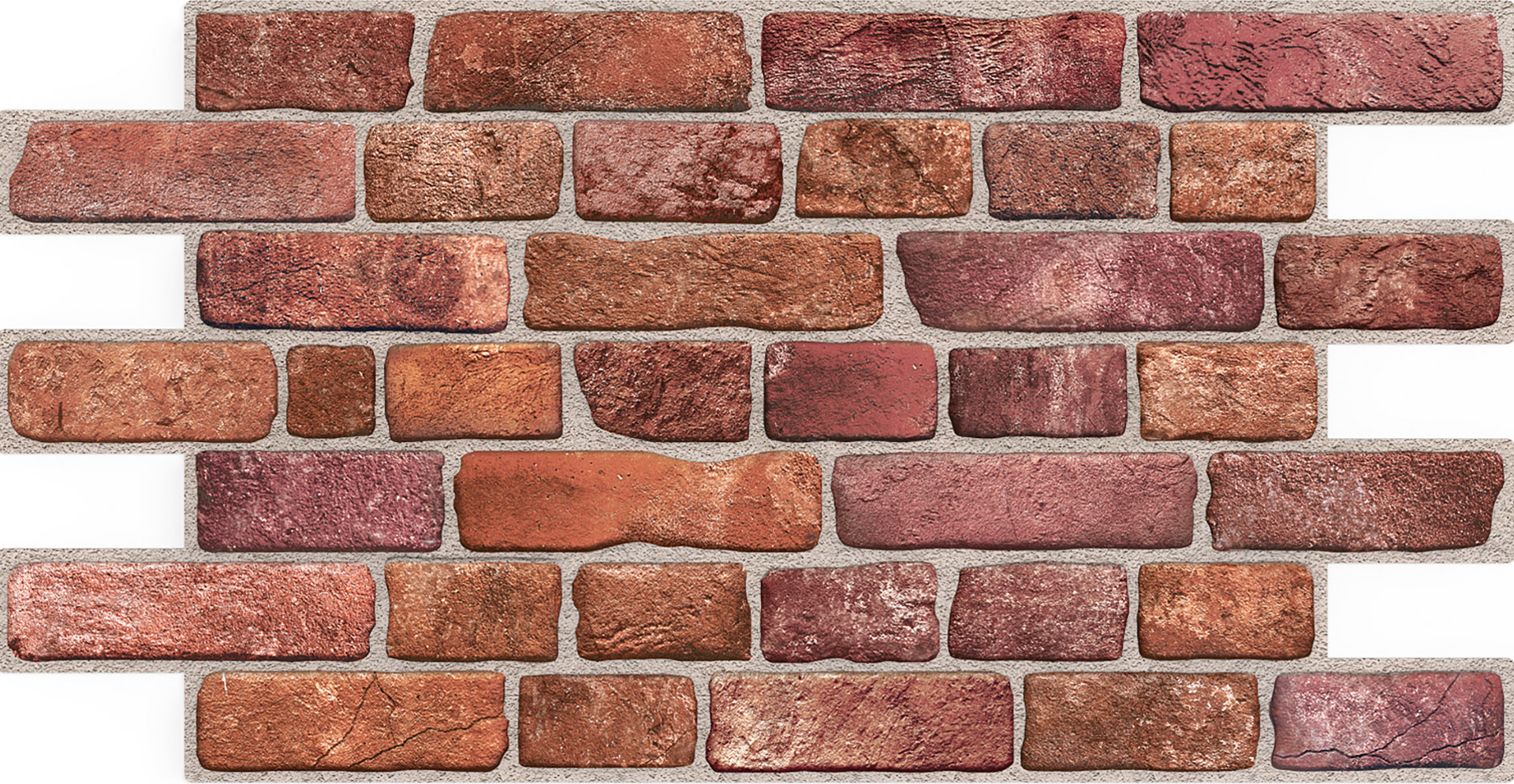 Dekor Paneele | Ziegel | Wand | Platte | PVC | stabil | 95x50cm | Regul