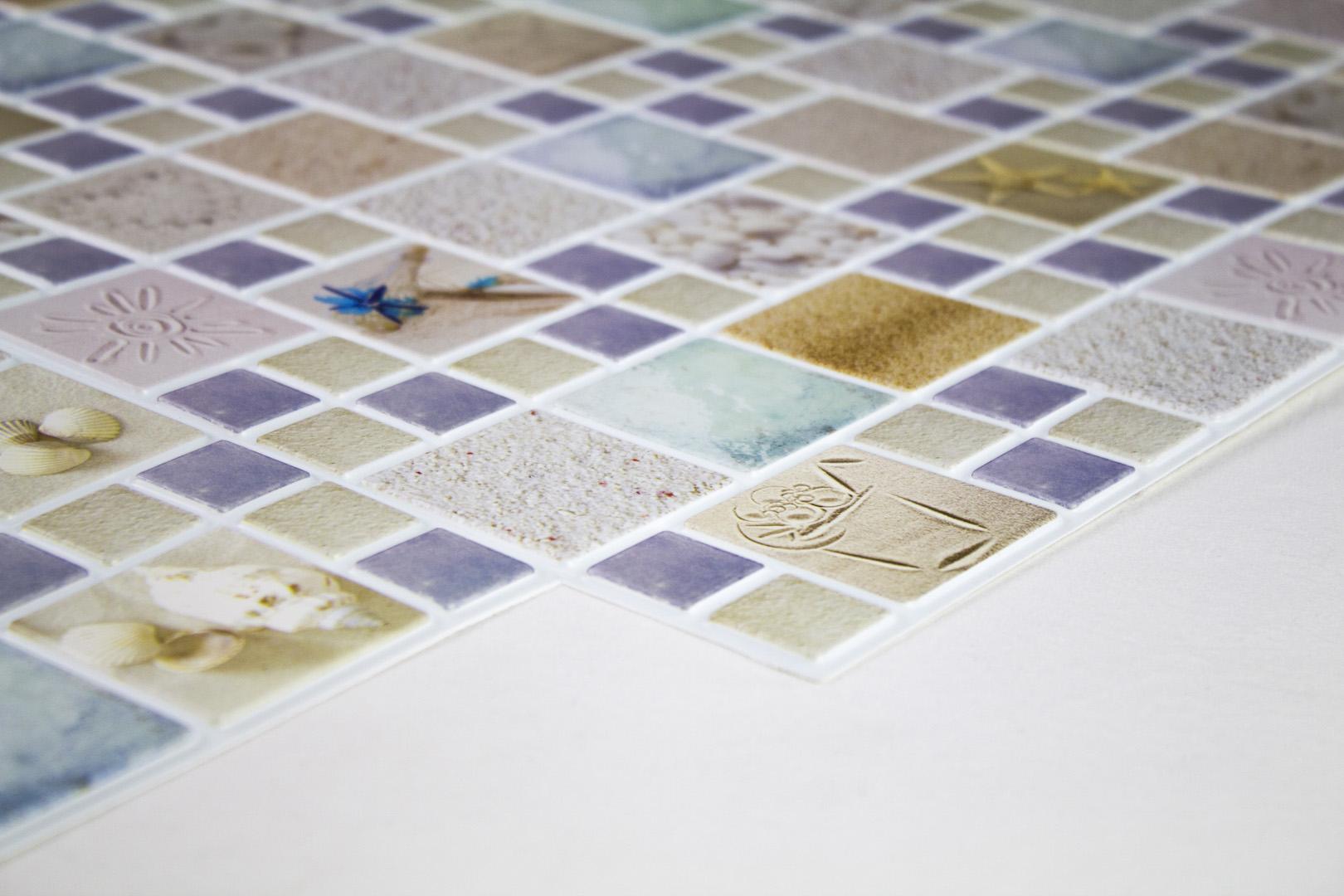 PVC Wandpaneele -  Mosaik Motive, pflegeleichte Platten - RESTPOSTEN!