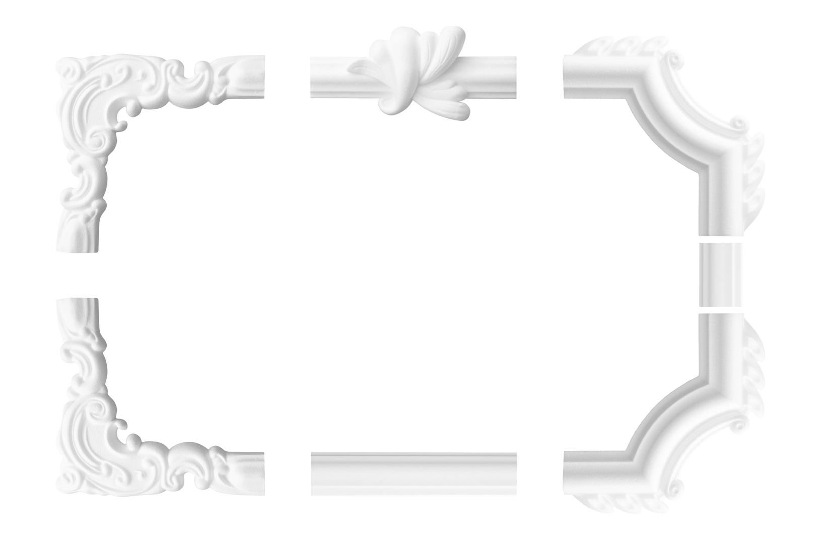 Wandumrandung Deckenumrandung Fries Stuck Dekor Rahmen Styropor Auswahl EPS B-42