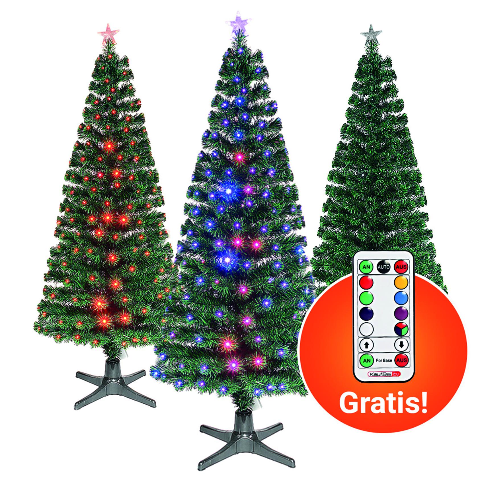 Weihnachtsbaum künstlich 180-210cm - rotierender LED Tannenbaum inkl. Fernbedienung