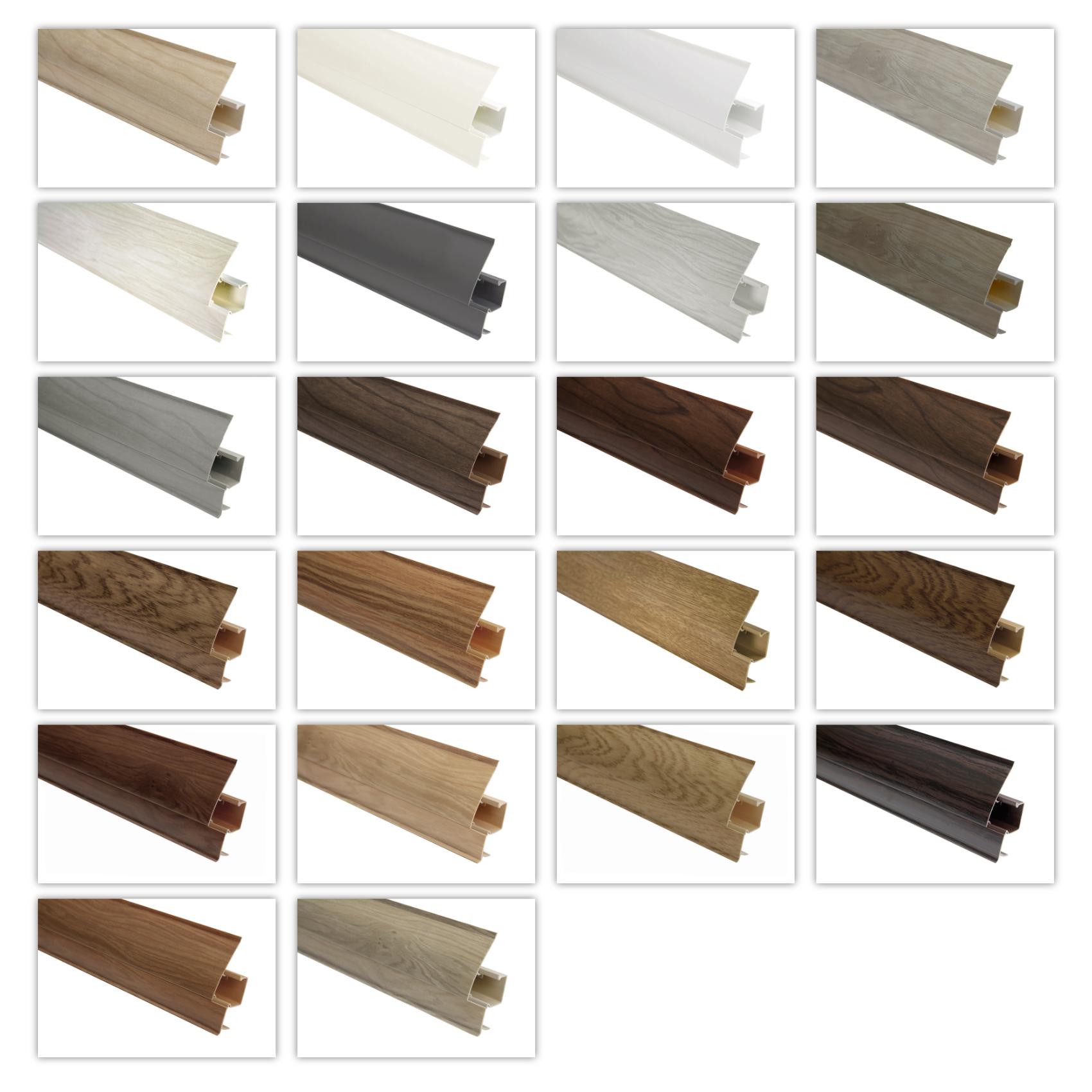 Sockelleiste und Zubehör Modern PVC Kabelkanal Auswahl