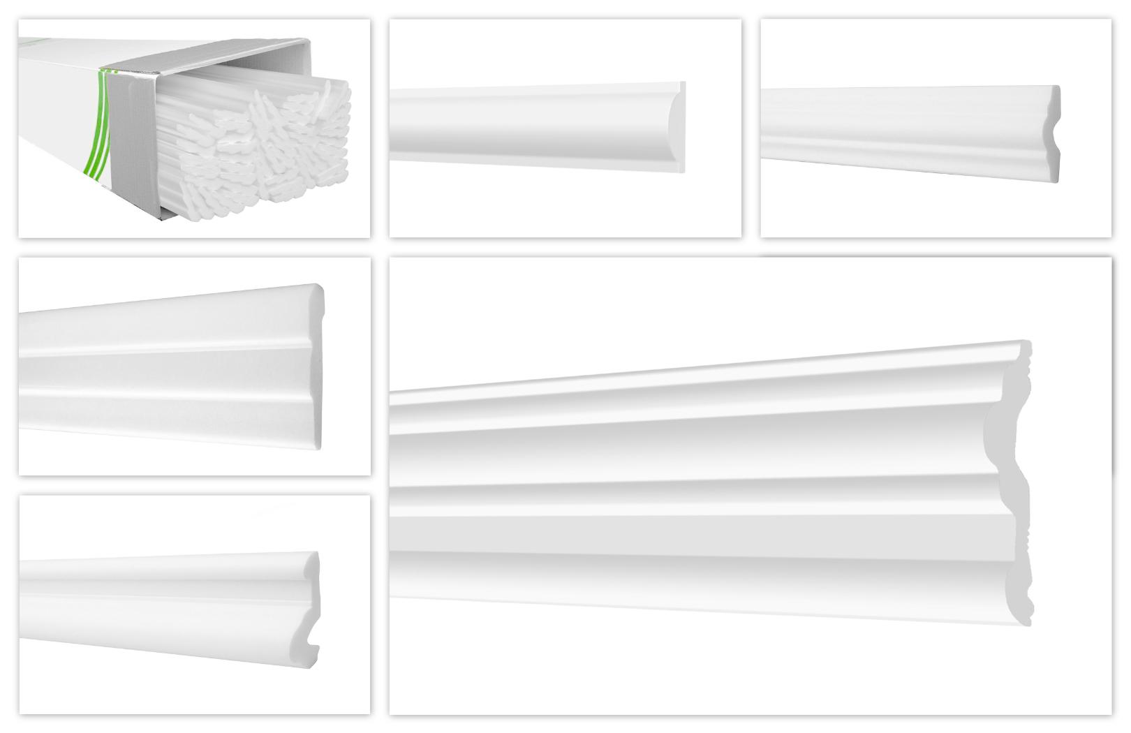 HEXIMO 2 Meter Deckenleisten aus Styropor XPS ZG1-15x15mm Stuck Zierleisten Eckleisten Styroporleisten Winkelleisten Wandleisten Hochwertige Stuckleisten leicht /& robust im modernen Design -