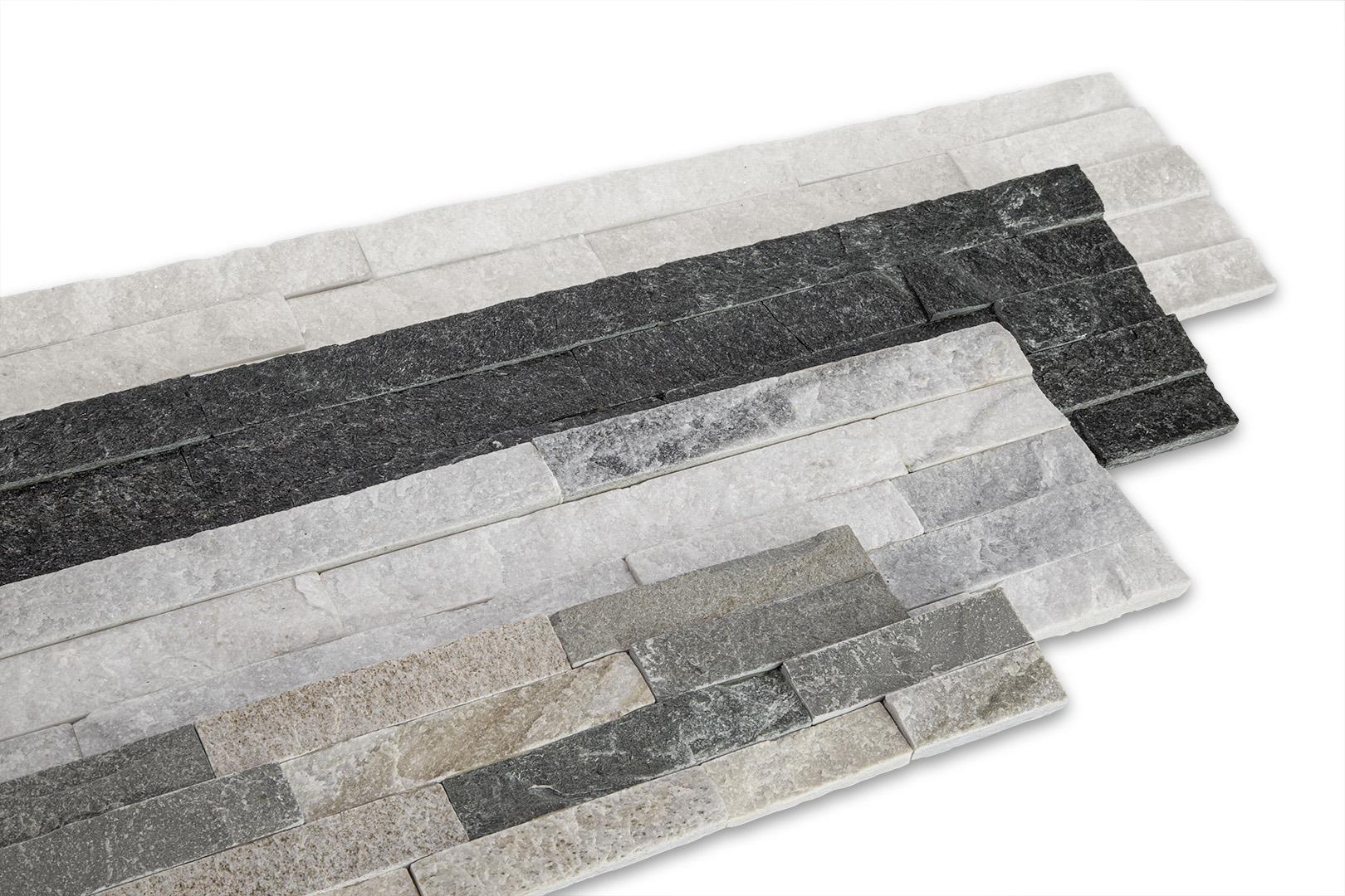 2. Wahl: Muster Naturstein Wandverblender - Klinkerriemchen glänzend, robust & wetterfest - 1 ganze Platte