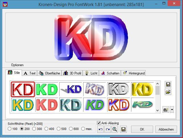 Kronen Design Pro Grafik Bearbeitung