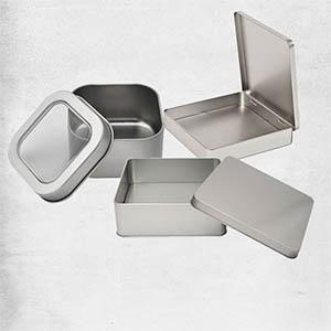 Metalldosen quadratisch Übersicht
