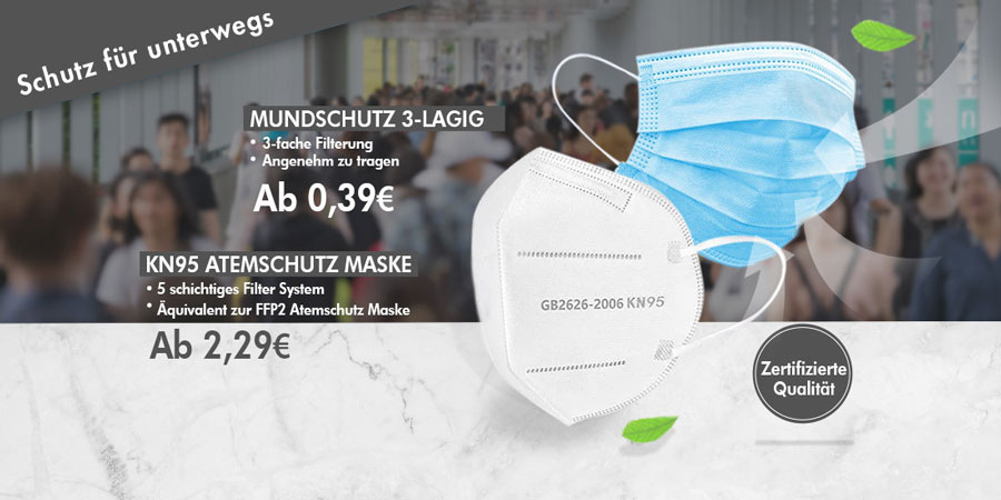 Schutzausrüstung (Masken, Gesichtschutz und mehr)