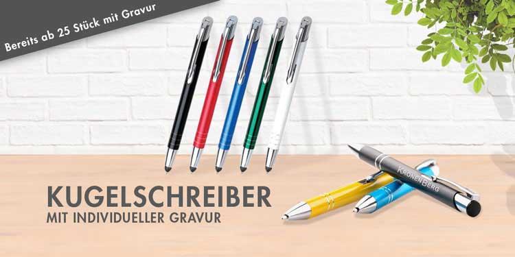 Kugelschreiber mit Gravur als persönliche Lasergravur