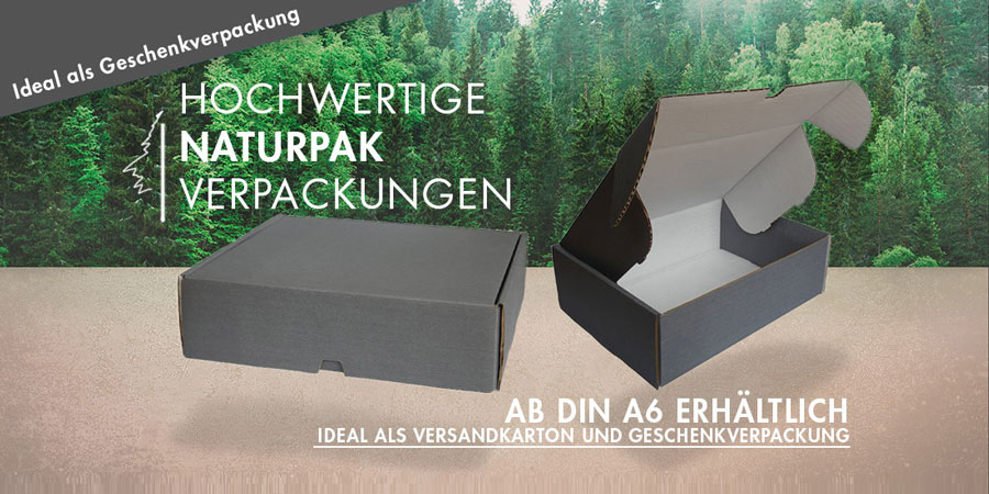VarioColors Naturpak Aufbewahrungsboxen Versandschachteln