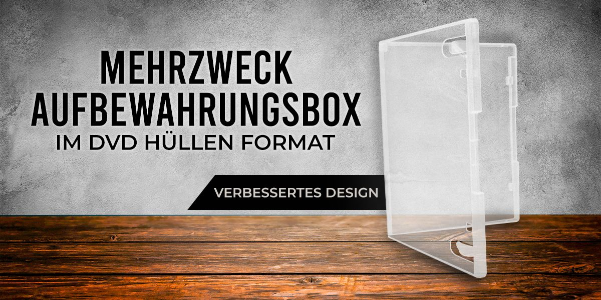 Freestyle Multistorage Box im DVD Standard Format 135x190x15mm transparent