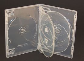 Qualitäts DVD-Box für 6 Disks, transparent 190x135x21mm