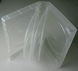 DVD Hülle 10-fach transparent 10er DVD Box 190x135x35mm