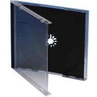 Jewel Case 1-er mit schwarzem Tray 143x124x10mm - 50 Stück