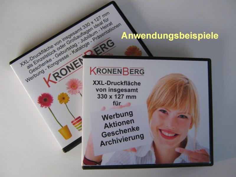 100 Stück einseitig vierfarbig bedruckte Einleger für USB-Stick Boxen Nr. 35581+35582
