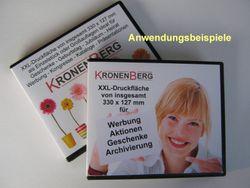 100 Stück einseitig vierfarbig bedruckte Einleger für Boxen Nr. 98048+98083