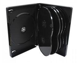 Kronenberg24 Profi DVD Hülle schwarz für 12 Disks 191x136x27mm