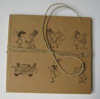 Luxuspak CD Art Box weiss Hochzeit Design naturbraun