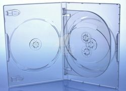 DVD Hülle 4 fach transparent 191x136x14mm